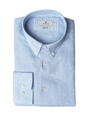 SHIRT BLUE STRIPE MELANGE