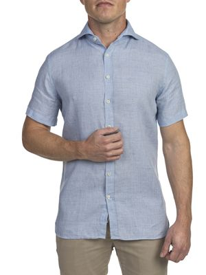 SHIRT, SUMMER LINEN SHORTSLEEVE