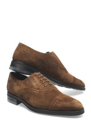 Mariano brogue suede shoes