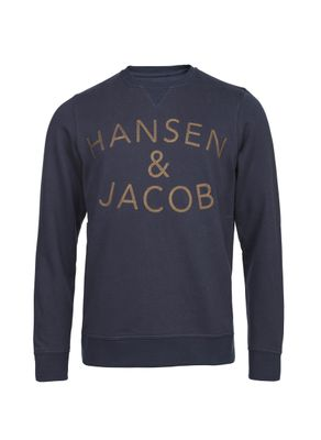 CREW NECK COLLEGE SWEATER