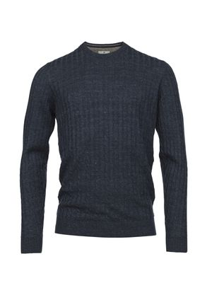 CREWNECK LINEN CABLE KNIT