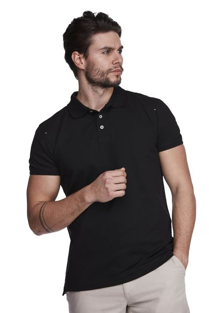 Pique stretch polo
