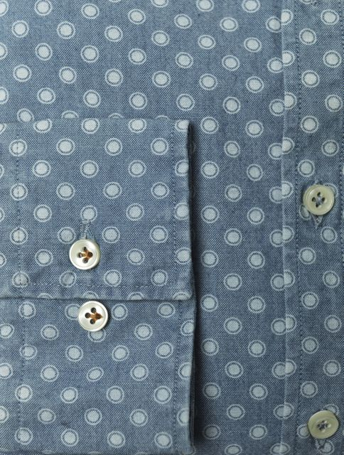 SHIRT INDIGO DOT