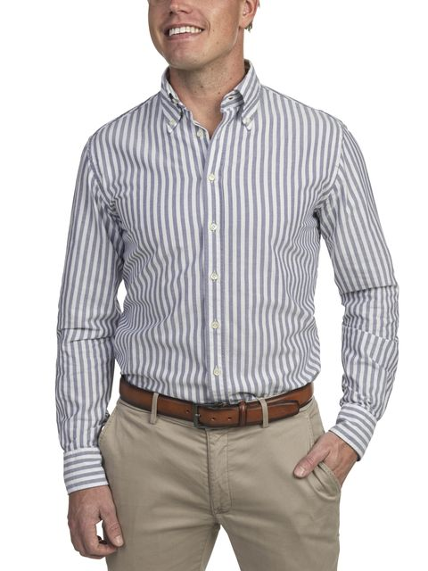 SHIRT, OXFORD WIDE STRIPE