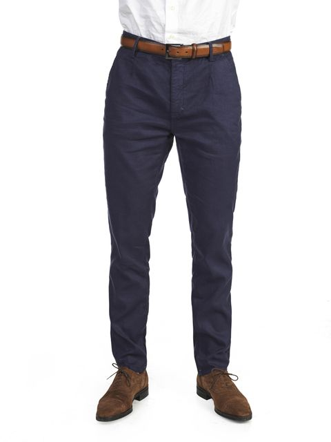 LINEN/COTTON TWILL CHINO