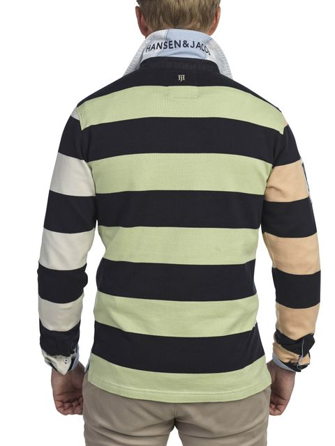 MULTI BLOCK STRIPED RUGGER