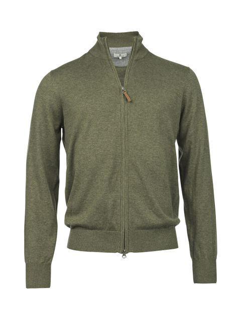 FULL ZIP FLAT KNIT
