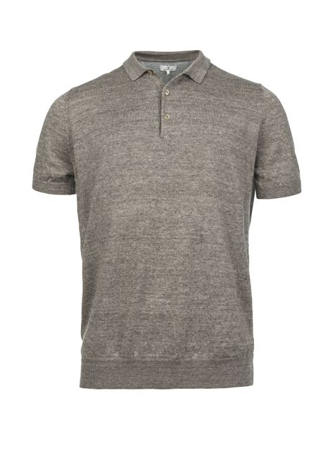 KNITTED SHORT SLEEVE POLO KNIT