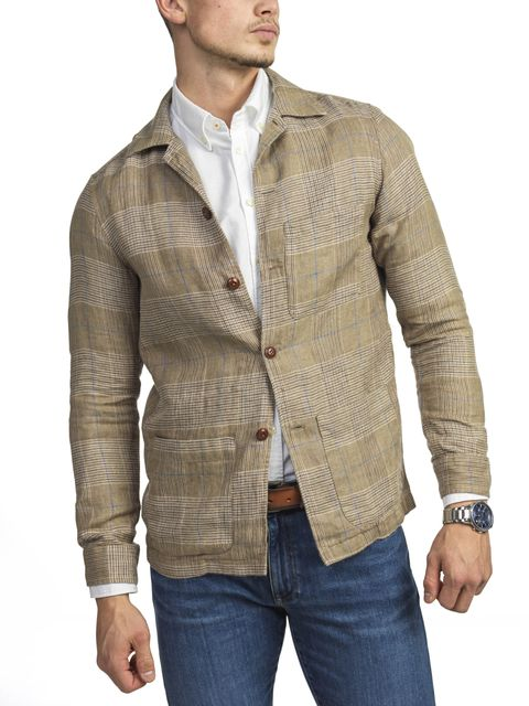 CHECKED SHIRT JACKET