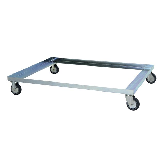 Sheet metal dolly flex with two swivel and two fixed wheels
