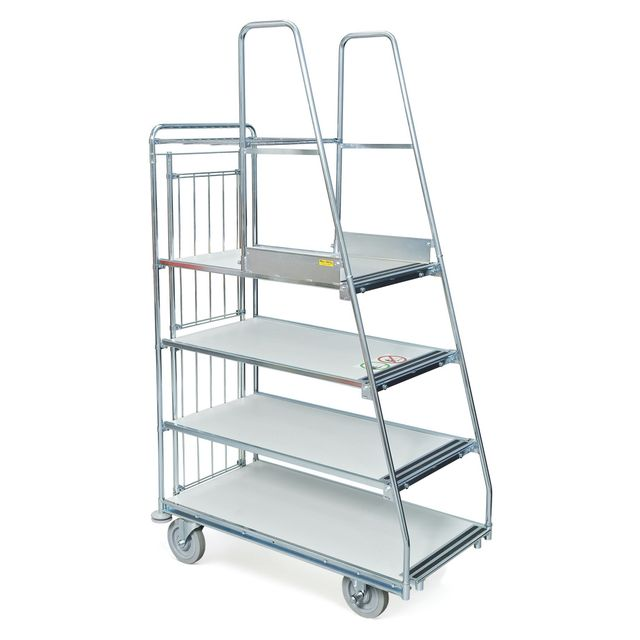 Step trolley 4 shelves