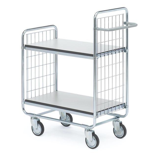ESD shelf trolley 100 2 shelves