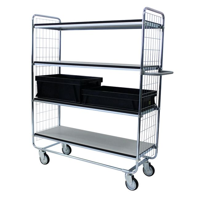 ESD shelf trolley 100 4 shelves