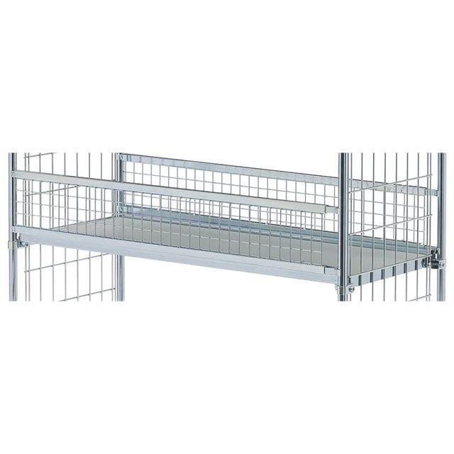 Grid rail for shelf