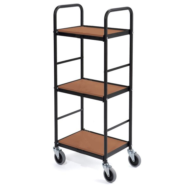 Shelf trolley black