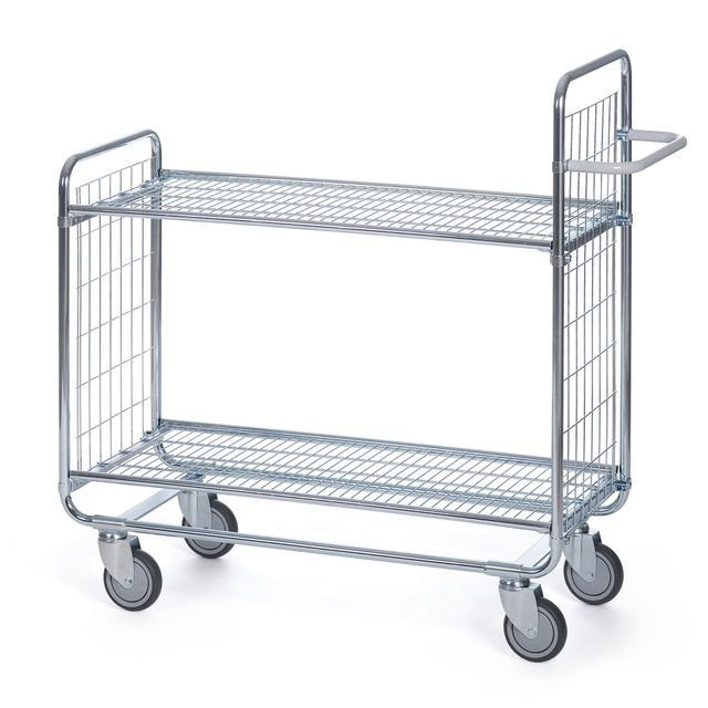 Shelf trolley 100 Grid 2 shelves