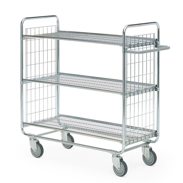 Shelf trolley 100 Grid 3 shelves