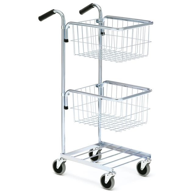 Mini trolley with two baskets