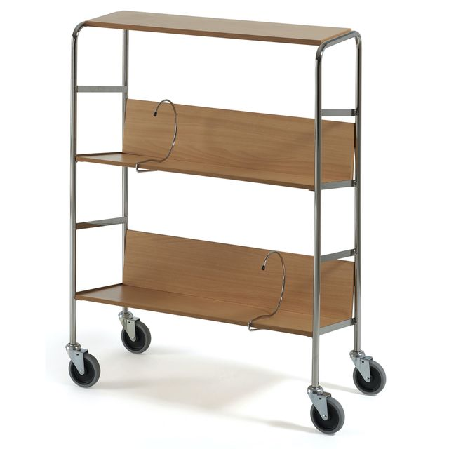 File trolley long with top shelf