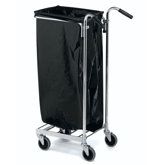 Refuse bag trolley with handles