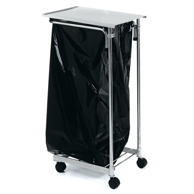 Refuse bag trolley with lid