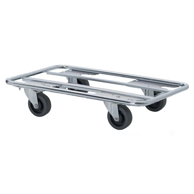 Steel tube dolly with swivel wheels