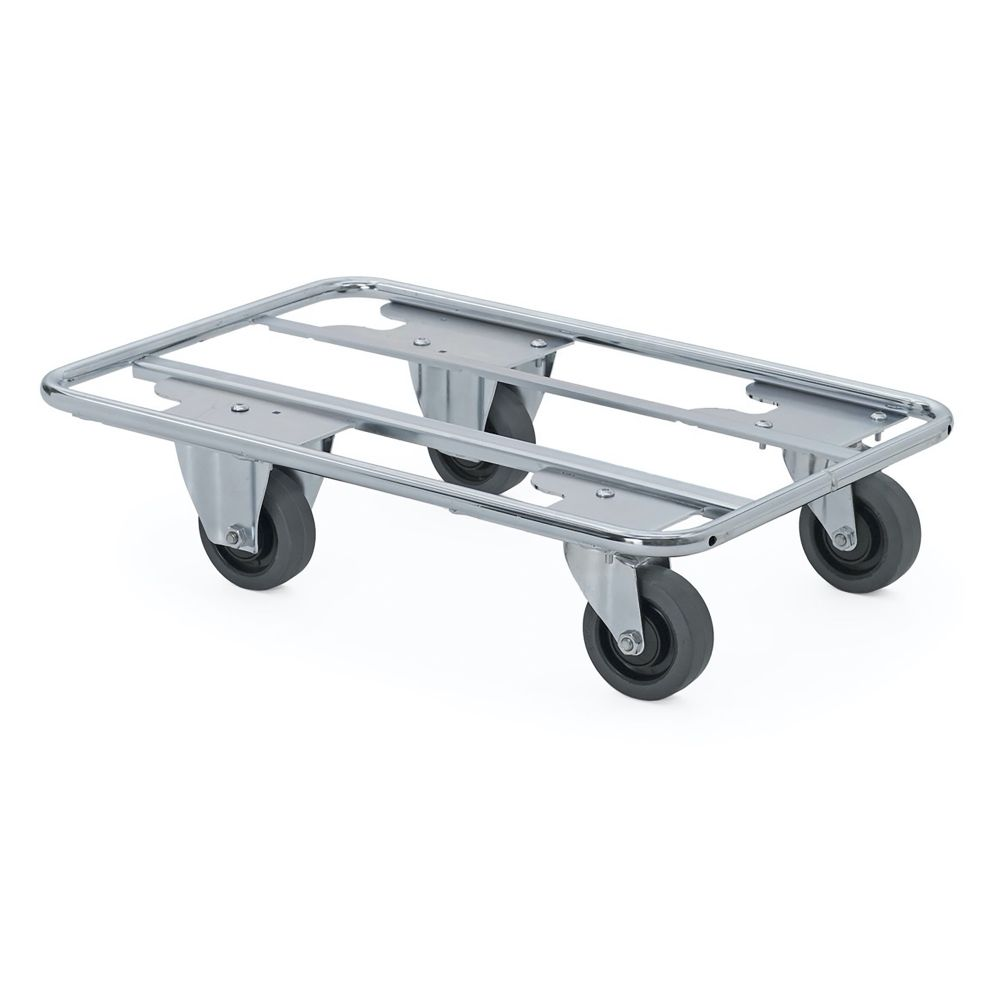 Steel tube dolly with two swivel and two fixed wheels