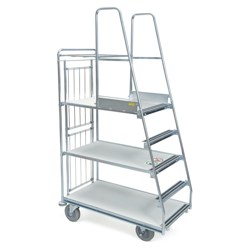 Step trolley 3 shelves