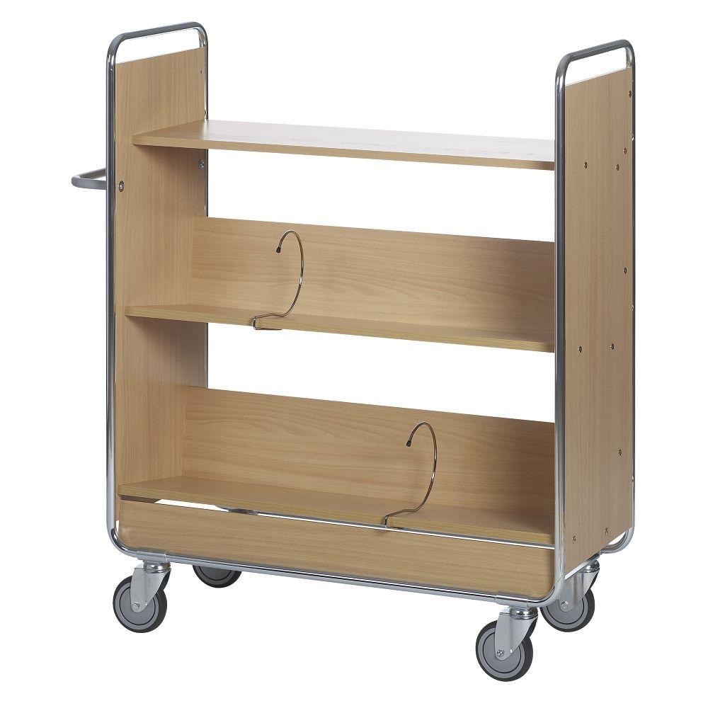 Filing trolley 2 shelves