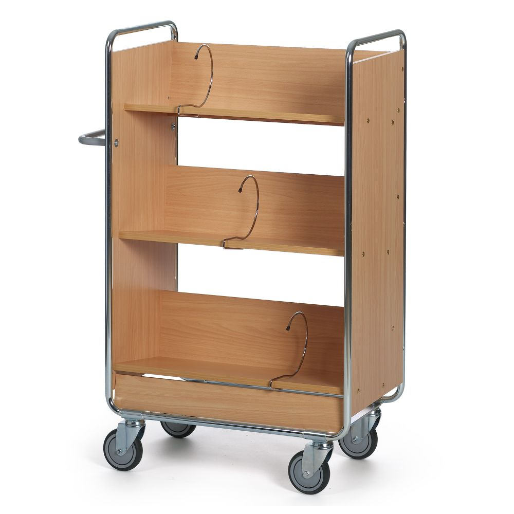Filing trolley 3 shelves