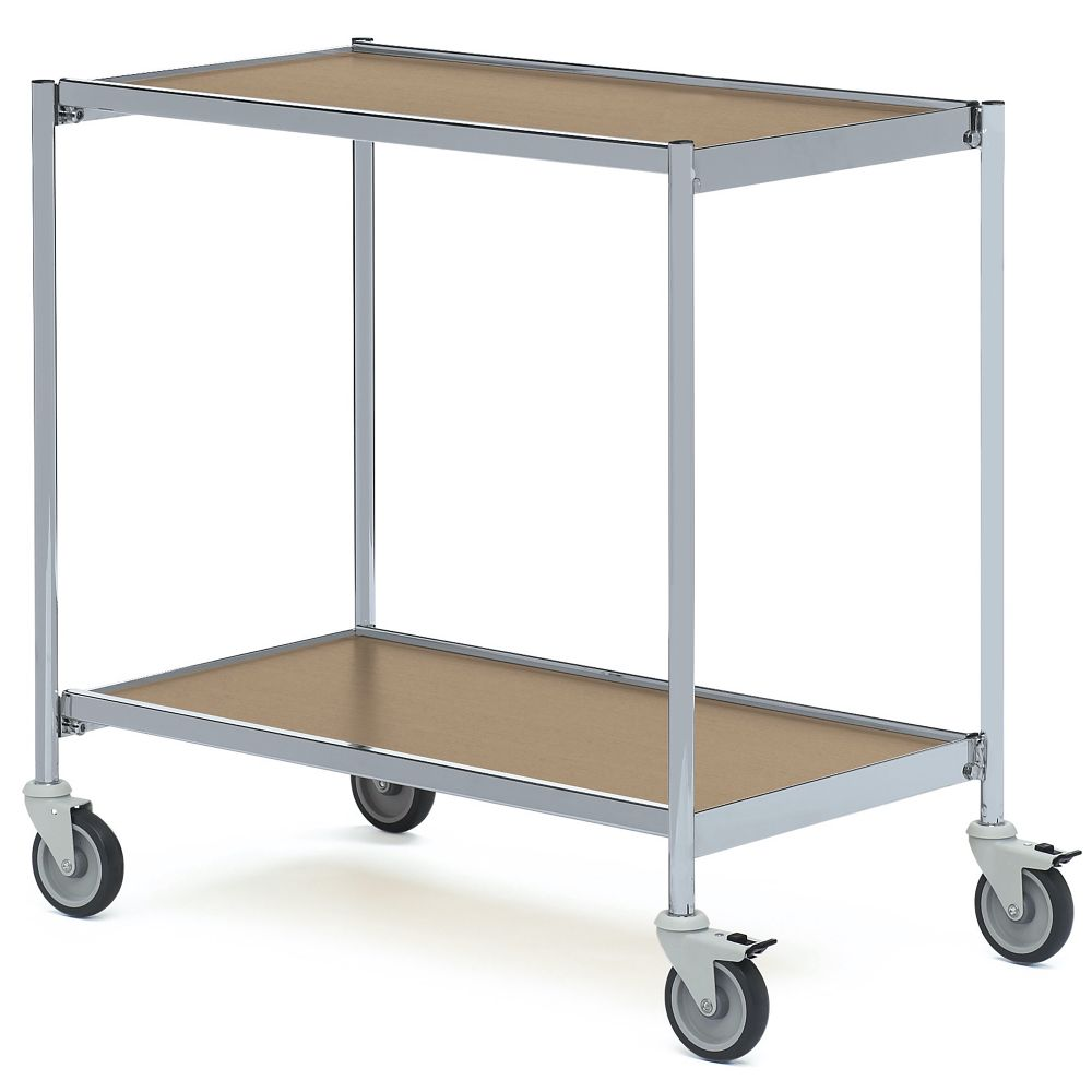 Table trolley with no handles