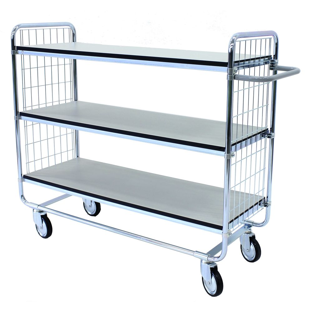 ESD shelf trolley 100 3 shelves