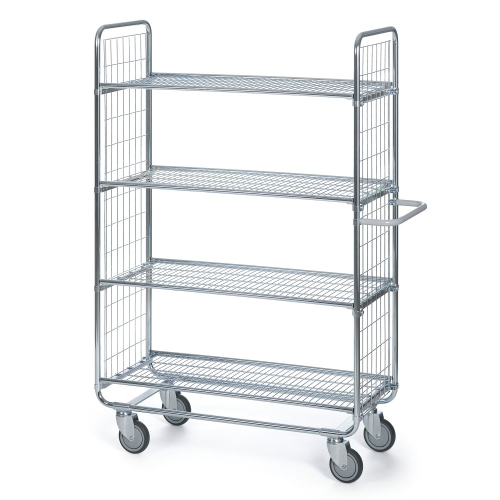 Shelf trolley 100 Grid 4 shelves