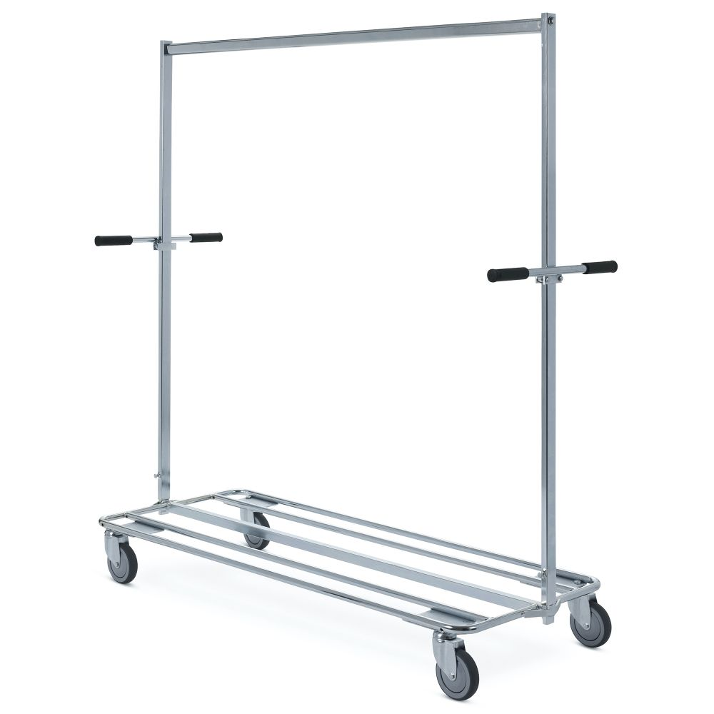 Clothes rail small wheels