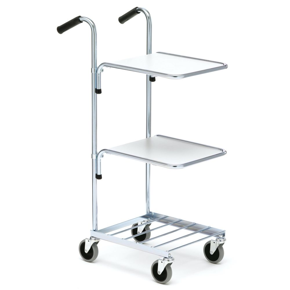 Mini trolley with two shelves