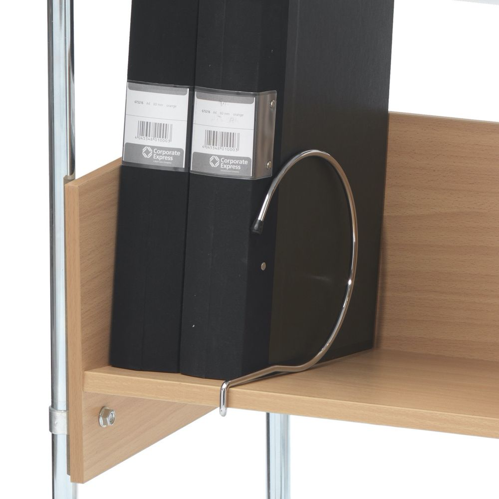 File shelf mobile table