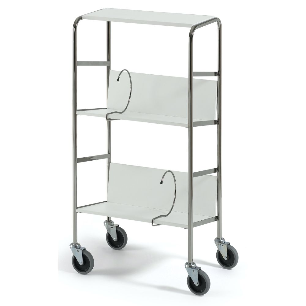 File trolley short with top shelf