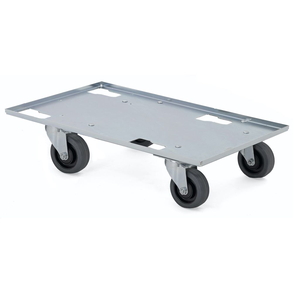 Sheet metal dolly with swivel wheels