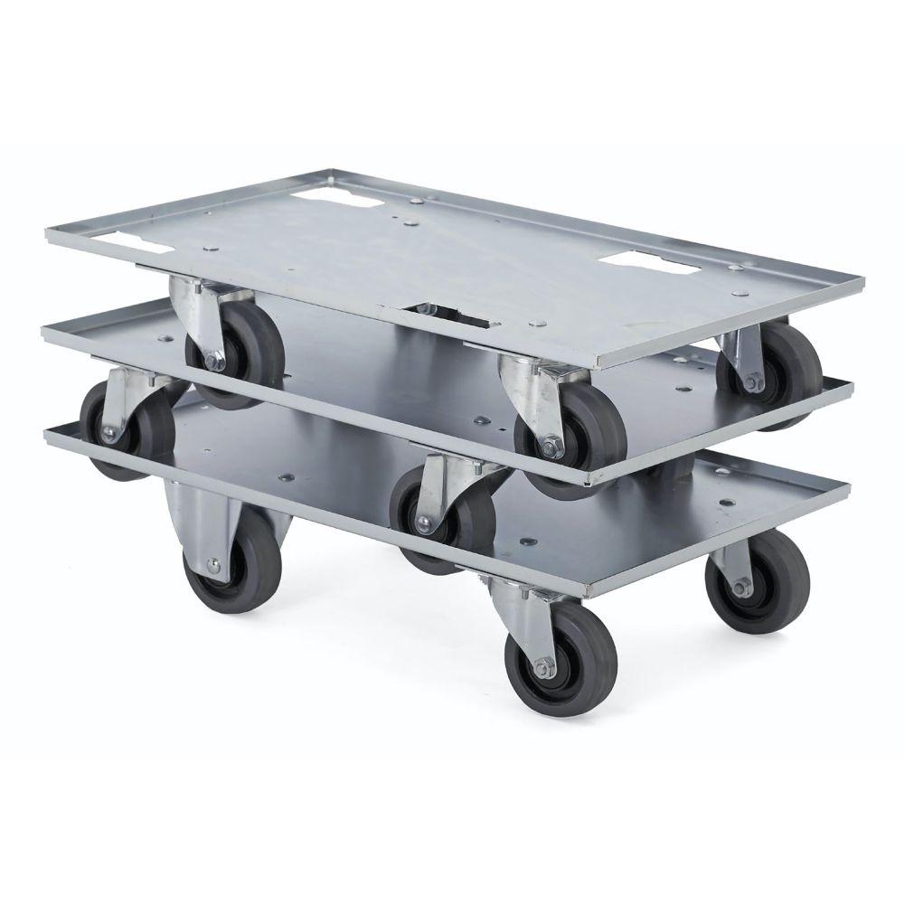 Blechwagen mit Lenkrollen