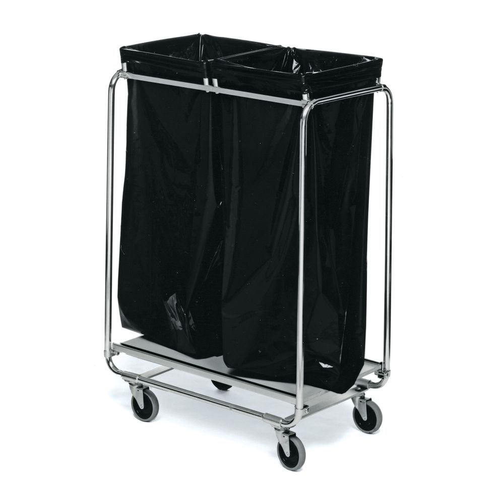 Refuse bag trolley two bags