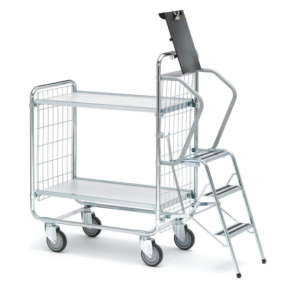 Step trolley 100 2 shelves