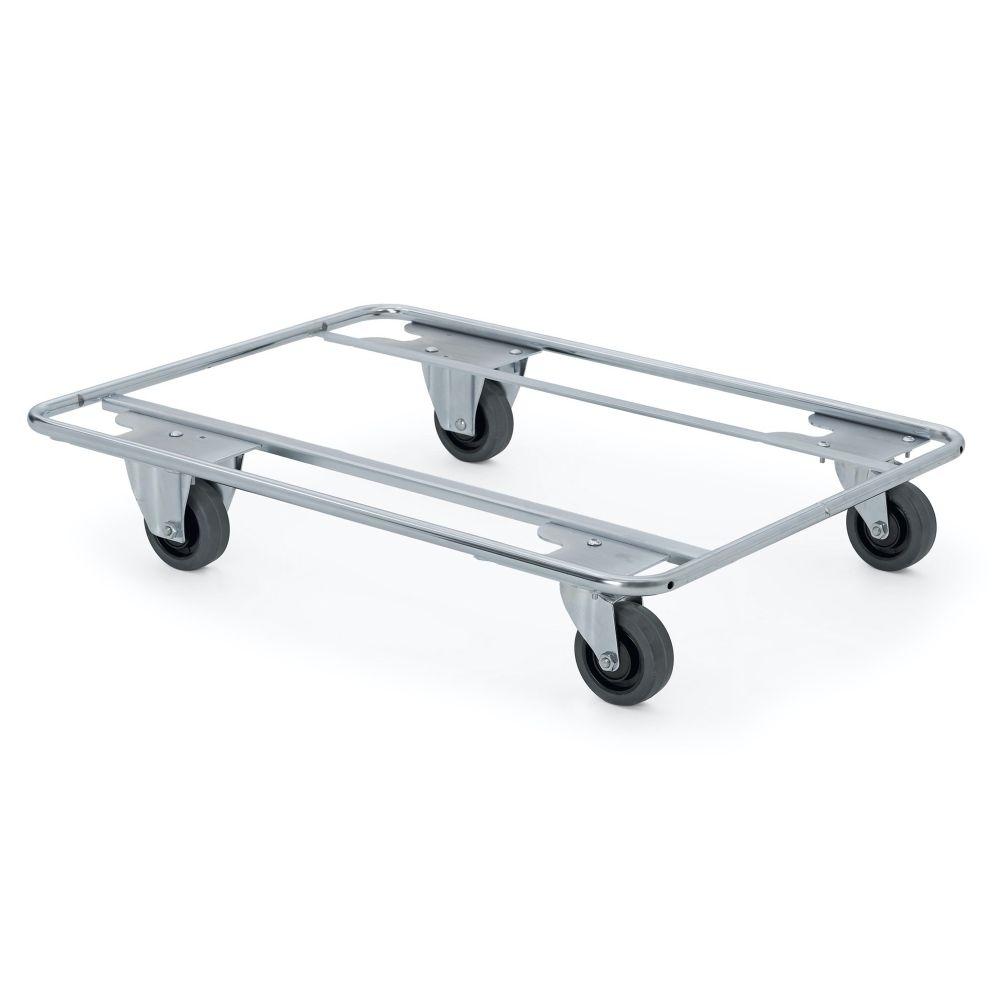 Stahlrohrwagen mit zwei feste Räder und zwei Lenkrollen