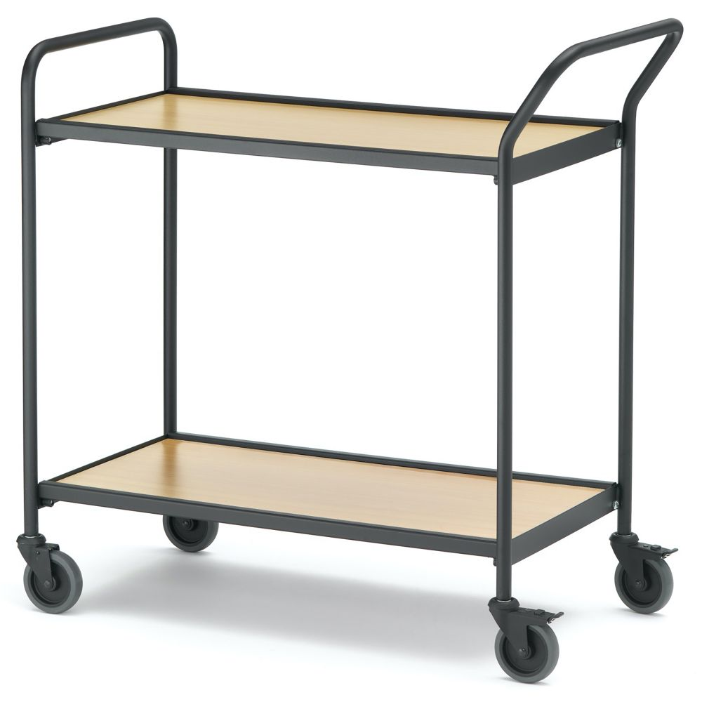Table trolley with 1 handle + end