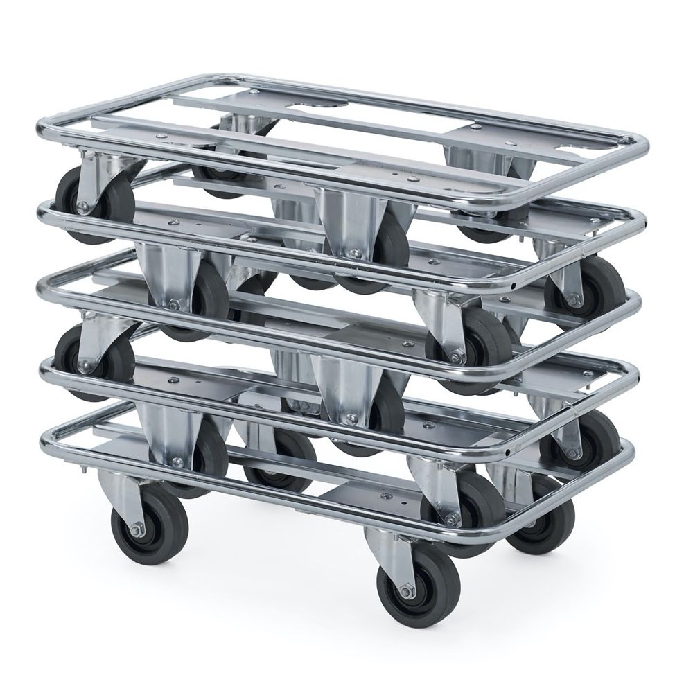 Steel tube dolly with swivel wheels
