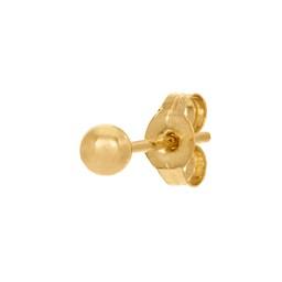 Örhänge styck i 18K guld 3 mm