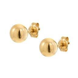 Örhängen i 18K guld 6 mm