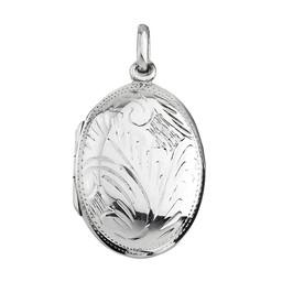 Medaljong i äkta silver
