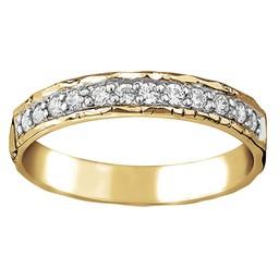 Diamantring i 18K guld 3,5mm