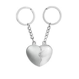 Nyckelring hjärta berlock i två delar