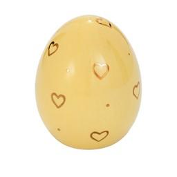 Påskägg i porslin gul glansig